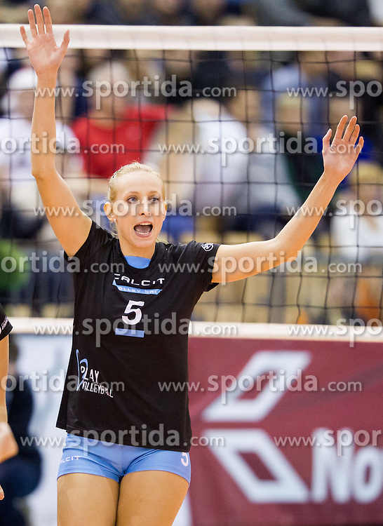 Tamara Borko of Calcit Volleyball during match between OK Nova KBM Branik and OK Calcit Volleyball in Finals of Slovenian Women Volleyball Cup 2013/14 on December 27, 2013 in Hoce, Slovenia.  Calcit Volleyball won 3-1 and became Slovenian Cup Champion 2013/14. Photo by Vid Ponikvar / Sportida