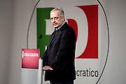 2013/02/07 Roma, manifestazione ' Le parole dell'Italia giusta ' promossa dal PD. Nella foto Walter Veltroni.Meeting ' Words of the right Italy ' promoted by Democratic Party. In the picture Walter Veltroni
