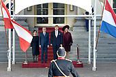Koning Willem Alexander ontvangt de president Oostenrijk