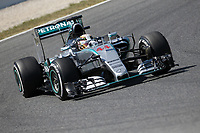 44 HAMILTON lewis (gbr) mercedes gp mgp w06 action during 2015 Formula 1 FIA world championship, Spain Grand Prix, at Barcelona Catalunya from May 8th to 10th. Photo Gregory Lenormand / DPPI