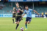 February 8, 2017: Sydney FC defender Michael ZULLO (7) at Round 19 of the 2017 Hyundai A-League match, between Sydney FC and Wellington Phoenix played at Allianz Stadium in Sydney. Sydney FC won the game 3-1.