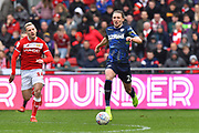 Luke Ayling (2)  of Leeds United on the attack during the EFL Sky Bet Championship match between Bristol City and Leeds United at Ashton Gate, Bristol, England on 9 March 2019.