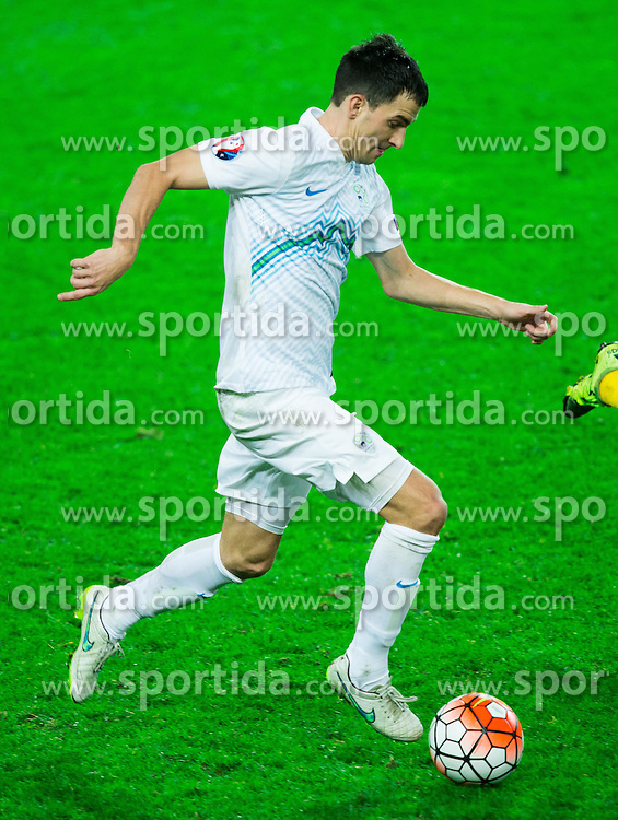 Branko Ilic of Slovenia during the EURO 2016 Qualifier Group E match between Slovenia and Lithuania, on October 9, 2015 in SRC Stozice, Ljubljana Slovenia. Photo by Vid Ponikvar / Sportida