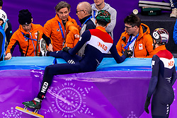 22-02-2018 KOR: Olympic Games day 13, PyeongChang<br /> Short Track Speedskating / Dylan Hoogerwerf of the Netherlands, Jeroen Otter