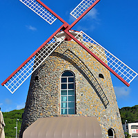 Windmill at Crown Bay Port in Charlotte Amalie, Saint Thomas<br />