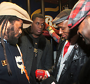 l to r: Jay Electronica and MOS DEF at The OkayPlayer Holiday Jammy Produced by Jill Newman Productions held at BB KINGS on Decemeber 16, 2009