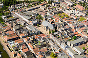 Nederland, Zuid-Holland, Leerdam, 23-08-2016; stadsgezicht met Kerkstraat. Cityscape .<br /> aerial photo (additional fee required);<br /> copyright foto/photo Siebe Swart