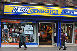 © Licensed to London News Pictures. 06/03/2013.Cash Generator,Orpington,Kent..The UK's biggest payday loans firms are facing the prospect of being put out of business unless they implement swift changes to their practices within 12 weeks..The ultimatum was issued by the Office of Fair Trading (OFT) following a wide-ranging investigation of the controversial sector .Lenders will also be required to make sure that interest rates are clearly displayed.Photo credit : Grant Falvey/LNP