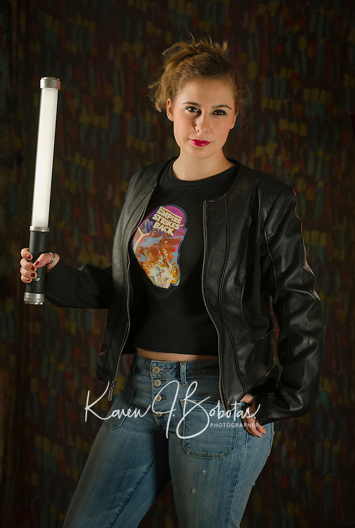 Emily Rose portrait session with multiple light setup.<br /> ©2015 Karen Bobotas Photographer
