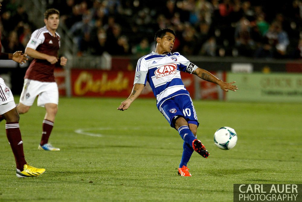 June 1st, 2013 - FC Dallas midfielder/forward David Ferreira (10) attempts to pass the ball in second half action of the MLS match between FC Dallas and the Colorado Rapids at Dick's Sporting Goods Park in Commerce City, CO