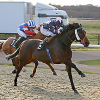 Brocklebank and Robert WInston winning the 1.40 race