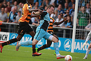 Wycombe Wanderers player Garry Thompson breaks into the penalty area before winning a penalty during the Sky Bet League 2 match between Barnet and Wycombe Wanderers at The Hive Stadium, London, England on 15 August 2015. Photo by Bennett Dean.