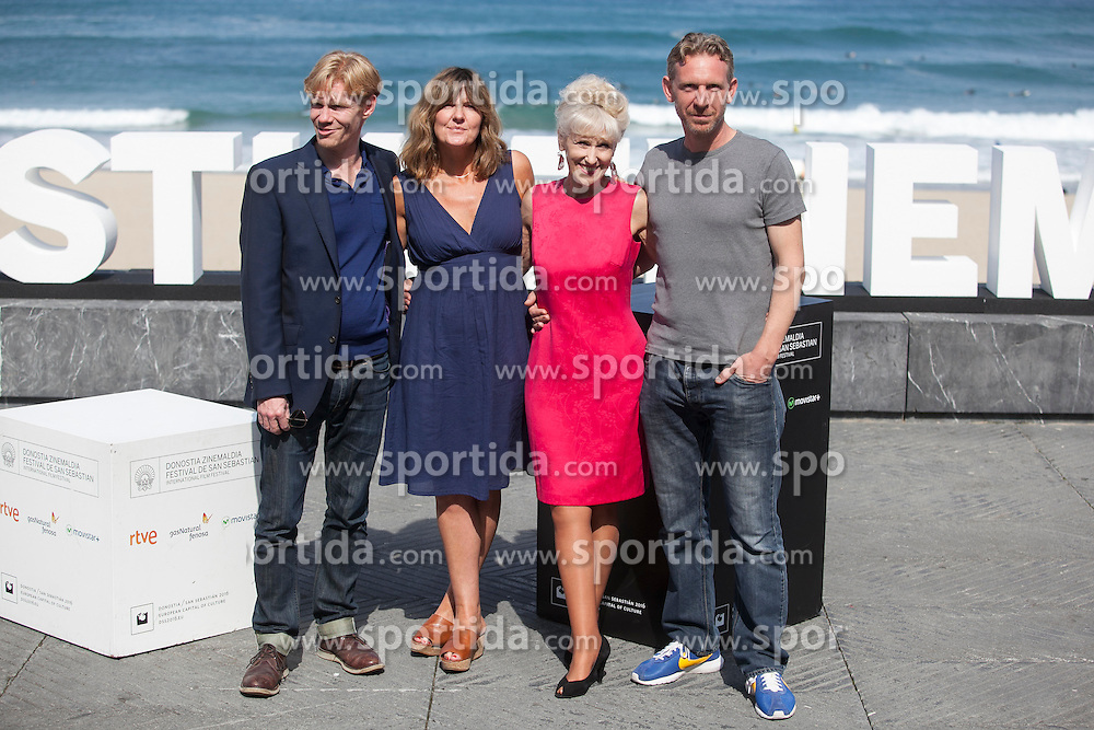 26.09.2015, Madrid, San Sebastian, ESP, San Sebastian International Film Festival, im Bild Actors Anita Dobson (2R), Clare Burt, Michael Schaeffer (L) and Paul Thornley pose during `London road&acute; film presentation // at 63rd Donostia Zinemaldia, San Sebastian International Film Festival in Madrid in San Sebastian, Spain on 2015/09/26. EXPA Pictures &copy; 2015, PhotoCredit: EXPA/ Alterphotos/ Victor Blanco<br /> <br /> *****ATTENTION - OUT of ESP, SUI*****