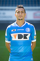 Gent's Mustapha Oussalah pictured during the 2015-2016 season photo shoot of Belgian first league soccer team KAA Gent, Saturday 11 July 2015 in Gent.