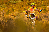 VILLIERSDORP, SOUTH AFRICA - Nathan Byukusenge has no problems on the technincal during stage two, of the Absa Cape Epic Mountain Bike Stage Race held in Villiersdorp on the 23 March 2009 in the Western Cape, South Africa..Photo by Sven Martin  /SPORTZPICS