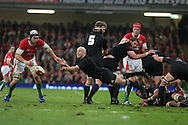 New Zealand scrum-half Brendon Leonard .Invesco Perpetual series, autumn international, Wales v New Zealand at the Millennium stadium in Cardiff  on Sat 7th Nov 2009. pic by Andrew Orchard, Andrew Orchard sports photography.  EDITORIAL USE ONLY