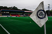 Rochdale FC corner flag before the EFL Sky Bet League 1 match between Rochdale and Sunderland at the Crown Oil Arena, Rochdale, England on 20 August 2019.