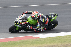 September 15, 2018 - Algarve, Portugal, Portugal - 66 .TomSykes Kawasaki ZX-10RR Kawasaki Racing Team during the World Superbikes race at Autodromo Internacional do Algarve, 14-16 September 2018 in Algarve, Portugal. (Credit Image: © Fabio Averna/NurPhoto/ZUMA Press)