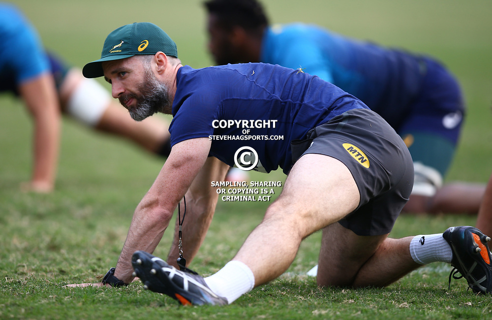 DURBAN, SOUTH AFRICA - AUGUST 13: Aled Walters of South Africa during the South African national rugby team training session at  Jonsson Kings Park on August 13, 2018 in Durban, South Africa. (Photo by Steve Haag/Gallo Images)