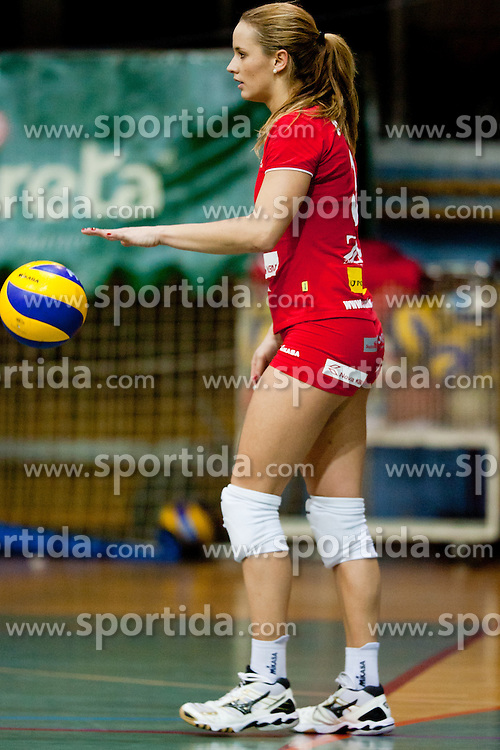 Monika Potokar of Nova KBM Branik Maribor during volleyball match between Nova KBM Branik Maribor and Calcit Kamnik in final game of Slovenia Volleyball Cup, on Januar 4, 2012 at Sportna Dvorana, Kamnik, Slovenia. Nova KBM Branik Maribor won 3:2. (Photo By Matic Klansek Velej / Sportida)