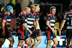 Tom Varndell of Bristol Rugby celebrates scoring his 3rd try - Rogan Thomson/JMP - 26/12/2016 - RUGBY UNION - Ashton Gate Stadium - Bristol, England - Bristol Rugby v Worcester Warriors - Aviva Premiership Boxing Day Clash.