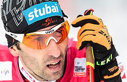 21.02.2016, Salpausselkae Stadion, Lahti, FIN, FIS Weltcup Nordische Kombination, Lahti, Langlauf, im Bild Wilhelm Denifl (AUT) // Wilhelm Denifl of Austria reacts during Cross Country Gundersen Race of FIS Nordic Combined World Cup, Lahti Ski Games at the Salpausselkae Stadium in Lahti, Finland on 2016/02/21. EXPA Pictures © 2016, PhotoCredit: EXPA/ JFK
