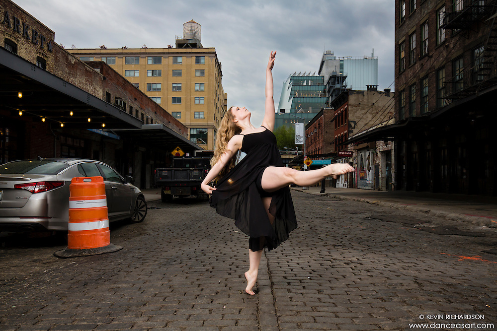 Meat Packing District New York City Dance As Art Photography Project featuring dancer Courtney McKay