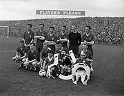 24/04/1960<br /> 04/24/1960<br /> 24 April 1960<br /> Soccer, F.A.I. Cup Final: Shelbourne v Cork Hibernians at Dalymount Park, Dublin. The winning Shelbourne team. Who defeated Cork Hibs. 2-0.