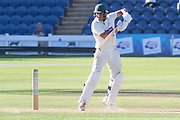 Ben Mike batting during the Specsavers County Champ Div 2 match between Glamorgan County Cricket Club and Leicestershire County Cricket Club at the SWALEC Stadium, Cardiff, United Kingdom on 17 September 2019.