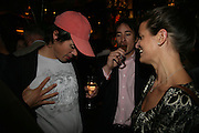 Rob Birkin, Jules Stevens and Amelia Bevan, PJ's Annual Polo Party . Annual Pre-Polo party that celebrates the start of the 2007 Polo season.  PJ's Bar & Grill, 52 Fulham Road, London, SW3. 14 May 2007. <br />
