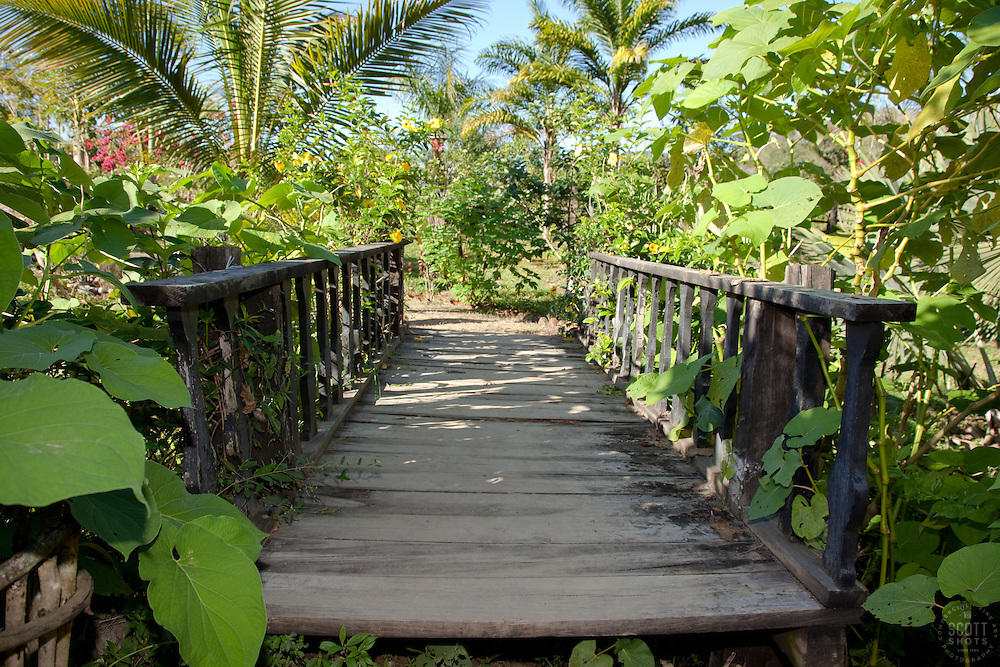 """Bridge in Puerto Vallarta"" - This cool old bridge was photographed in Puerto Vallarta, Mexico."