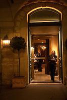 Entrance to the three star restaurant l'Ambroisie, Paris - Chef Bernard Pacaud - Photograph by Owen Franken