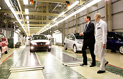 File photo dated 10/02/11 of former prime minister David Cameron visiting the Honda plant in Swindon. Honda is planning to close the plant in three years time, according to unconfirmed reports.