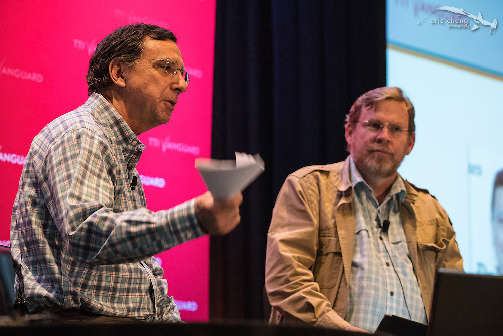 Discussion between John Markoff and Michael Hawley. TTI/Vanguard [next] 2015 conference at the Grand Hyatt in San Francisco