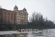 Putney, London, Pre Boat Race Fixture, <br /> Oxford University Boat Club {OUBC}v Leander Club over the River Thames, Championship Course Putney to Mortlake, Saturday 12/03/2016. [Mandatory Credit; Patrick White/Intersport-images]<br /> <br /> Oxford on,Middlesex,  Crew, Bow: George McKirdy &ndash; 76.8kg, 2: James White &ndash; 87.0kg, 3: Morgan Gerlak &ndash; 85.8kg, 4: Joshua Bugajski &ndash; 96.4kg, 5: Leo Carrington &ndash; 87.0kg, 6: J&oslash;rgen Tveit &ndash; 82.4kg, 7: Jamie Cook &ndash; 84.0kg, Stroke: Nik Hazell &ndash; 94.8kg, Cox: Sam Collier &ndash; 56.2kg