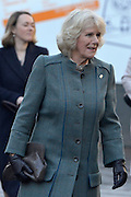 © Licensed to London News Pictures. 30/01/2013. London, UK Camilla, Duchess of Cornwall arrives at Farringdon. HRH The Prince of Wales and HRH The Duchess of Cornwall visit Farringdon Station in London today 30th January 2013. They were carrying out engagements to celebrate London Underground's 150th anniversary.]. Photo credit : Stephen Simpson/LNP