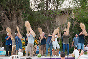 Israel, Shavuot celebration (End of Harvest season) at a Kibbutz. Photographed at Kibbutz Ashdot Yaacov, Israel