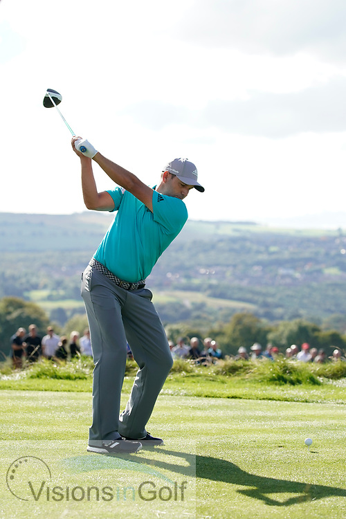 Sergio Garcia swing sequence<br /> The British Masters 2017<br /> Close House<br /> Uk<br /> Picture Credit: Mark Newcombe/visionsingolf.com