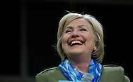U.S. Democratic presidential nominee Hillary Clinton smiles in Commerce City, Colorado August 3, 2016. REUTERS/Rick Wilking