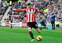 Sunderland's Adam Johnson in action - Photo mandatory by-line: Richard Martin-Roberts/JMP - Mobile: 07966 386802 - 21/02/2015 - SPORT - Football - Sunderland - Stadium of Light - Sunderland v West Bromwich Albion - Barclays Premier League