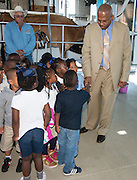Chief Human Resources Officer Dr. Rodney Watson visits principal David Terrell and classrooms at Frost Elementary School, October 4, 2013.