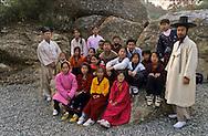 traditional Confucianist village. the new modern school  Seoul  Korea   la nouvelle école toute neuve du village traditionnel confucianniste de  Chonhakdong  coree  ///R20131/    L0006909  /  R20131  /  P104919