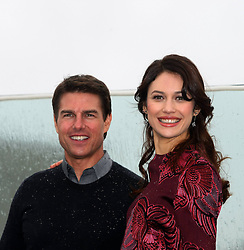 Tom Cruise with Olga Kurylenko during photocall and press-conference for science fiction film directed by Joseph Kosinski Oblivion, Hotel The Ritz-Carlton, Moscow, April 1, 2013. Photo by Imago / i-Images...UK ONLY..