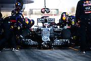 February 19-22, 2015: Formula 1 Pre-season testing Barcelona : Daniel Ricciardo (AUS), Red Bull-Renault, pitstop