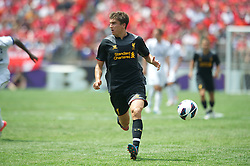 BALTIMORE, MD - Saturday, July 28, 2012: Liverpool's Adam Morgan in action against Tottenham Hotspur during a pre-season friendly match at the M&T Bank Stadium. (Pic by David Rawcliffe/Propaganda)