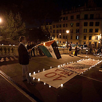 Manifestazione Pro-Palestina aggressione Comunita' Ebraica