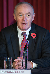 © Licensed to London News Pictures . Manchester , UK . FILE PICTURE DATED 03/11/2014 of SIR RICHARD LEESE at Manchester Town Hall signing a deal to devolve power to Greater Manchester , including giving the city a Mayor and greater control over its finances . Today (24th February 2015) it has been revealed that , as part of the devolution deal , Greater Manchester will gain control of its entire £6 billion NHS budget - 25% of the government's spending in the region , and all administrative control too . Photo credit : Joel Goodman/LNP