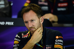 10.10.2014, Sochi Autodrom, Sotschi, RUS, FIA, Formel 1, Grosser Preis von Russland, Training, im Bild Christian Horner (GBR) Red Bull Racing Team Principal in the Press Conference. // during the Practice of the FIA Formula 1 Russia Grand Prix at the Sochi Autodrom in Sotschi, Russia on 2014/10/10. EXPA Pictures © 2014, PhotoCredit: EXPA/ Sutton Images/ Lundin<br /> <br /> *****ATTENTION - for AUT, SLO, CRO, SRB, BIH, MAZ only*****