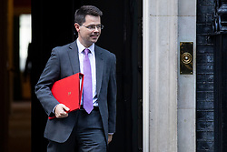 © Licensed to London News Pictures. 16/10/2018. London, UK. Secretary of State for Housing, Communities and Local Government James Brokenshire Truss leaves 10 Downing Street after the Cabinet meeting. Photo credit: Rob Pinney/LNP