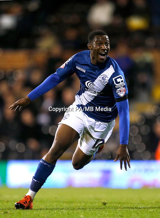 Birmingham City's Viv Solomon-Otabor celebrates scoring his side's fifth goal of the game